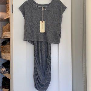 Grey Langston t-shirt material dress